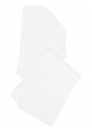 Forte Forte ribbed knitted scarf - White