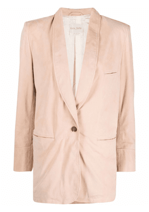 Forte Forte gathered single-breasted blazer - Pink