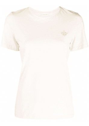 By Malene Birger embroidered-logo organic-cotton T-Shirt - White