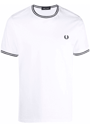 FRED PERRY logo-embroidered cotton T-shirt - White