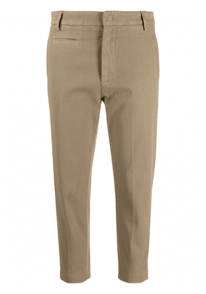 DONDUP stretch-cotton cropped trousers - Green