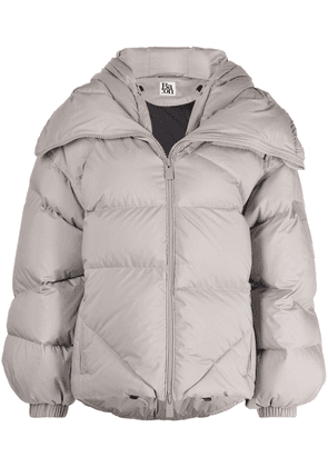 Bacon hooded feather-down puffer jacket - Grey