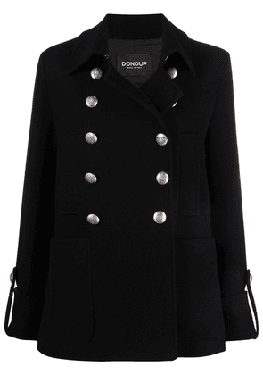 DONDUP double-breasted felted coat - Black