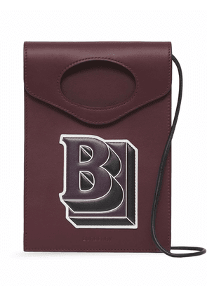 Burberry embossed logo phone case - Red