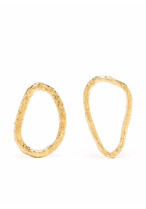 Forte Forte mis-matching hammered earrings - Gold