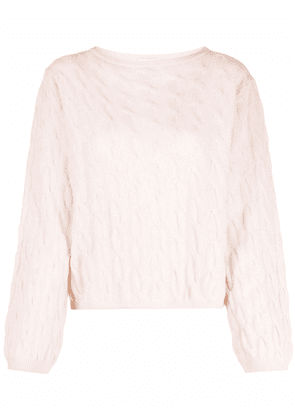 Forte Forte cable-knit ribbed-trim jumper - Neutrals