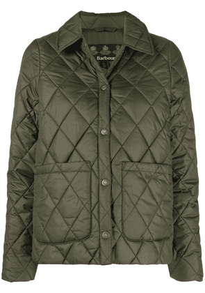 Barbour logo-embroidered diamond-quilted puffer jacket - Green