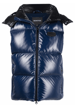 Duvetica logo-patch feather-down padded gilet - Blue