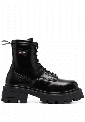 Eytys Michigan chunky leather boots - Black