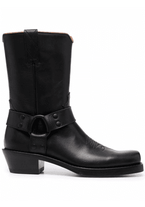 Buttero embroidered ankle boots - Black