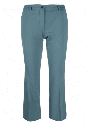 Alberto Biani cropped tailored trousers - Blue