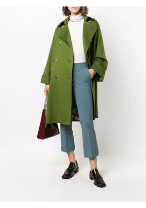Alberto Biani double-breasted tailored coat - Green