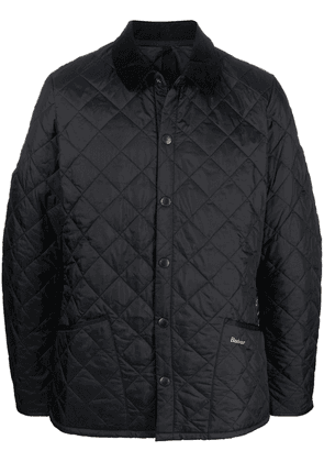 Barbour quilted-finish snap-fastened jacket - Black
