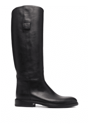 Buttero Elba leather knee-high boots - Black