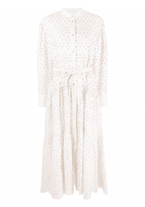Forte Forte broderie-anglaise maxi shirt dress - White