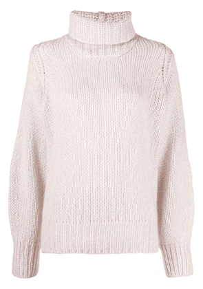 Forte Forte roll-neck chunky-knit jumper - Pink