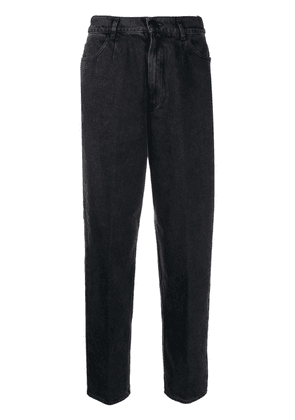 Forte Forte high waisted loose fit trousers - Black
