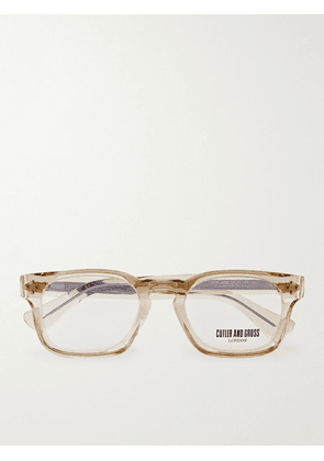 Cutler and Gross - Square-Frame Acetate Optical Glasses - Men - Neutrals
