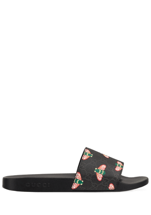 Gucci Bestiary Bees Print Slide Sandals