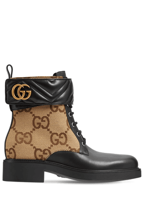 40mm Marmont Canvas & Leather Ankle Boot