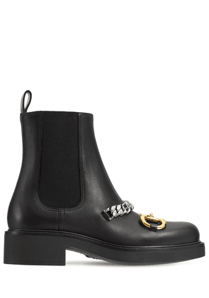 25mm Deva Leather Ankle Boots
