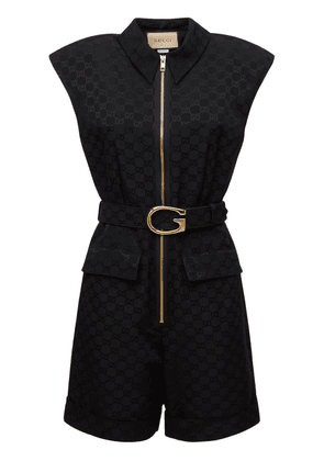 Cotton Logo Belted Playsuit