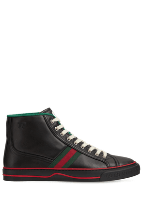 Web Leather High Top Tennis Sneakers