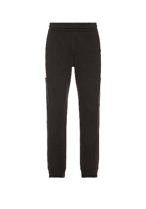 Burberry Side Check Panel Joggers in Black - Black. Size XL/1X (also in L, M, S).