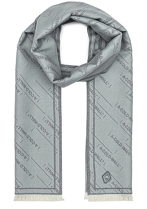 A-COLD-WALL* Oversized Logo Repeat Scarf in Grey - Grey. Size all.