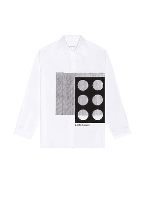A-COLD-WALL* Projection Shirt in White - White. Size 46 (also in 50, 52).