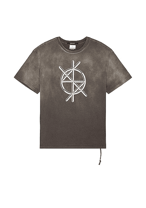 Ksubi Cryptic Biggie SS Tee in Charcoal - Charcoal. Size L (also in M, S, XL/1X).