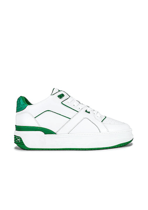 Just Don JD3 Low Luxury in White & Green - White. Size 37 (also in 38, 39, 40, 41, 42, 43, 44, 45, 46).