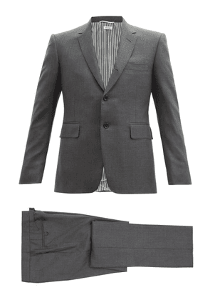Thom Browne - Single-breasted Wool-twill Suit And Tie - Mens - Grey