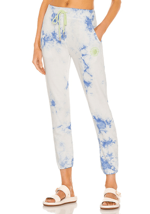 DAYDREAMER Sunny People Sweatpant in Blue. Size XS, M.