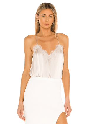 CAMI NYC Racer Charmeuse Cami in Nude. Size L, M, S, XS.