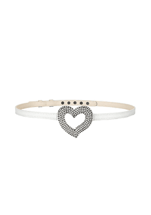 Lovers and Friends Felicity Belt in Ivory. Size XL.