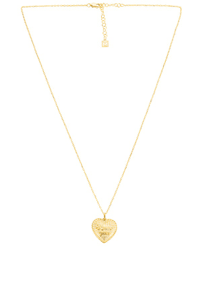 The M Jewelers NY I Love You Heart Necklace in Metallic Gold.