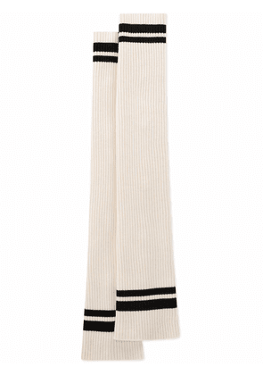 Dolce & Gabbana ribbed knit arm warmers - White