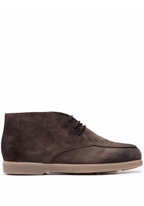 Doucal's lace-up desert boots - Brown