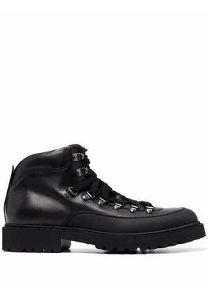 Doucal's lace-up ankle boots - Black