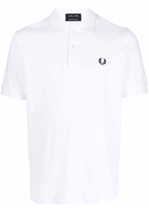 FRED PERRY embroidered logo polo shirt - White