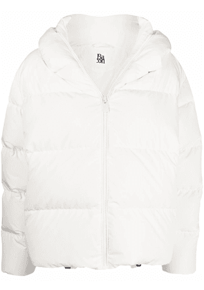 Bacon hooded feather-down puffer jacket - White