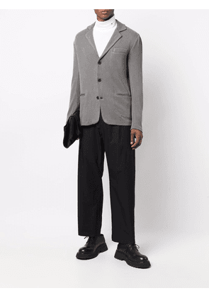 Avant Toi fitted single-breasted blazer - Grey
