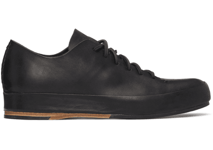 Feit Black Hand-Sewn Low Sneakers