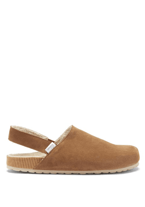 Castañer - Zazza Suede And Shearling Slingback Sandals - Mens - Brown