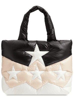 Star Quilted Nylon Puffer Tote Bag