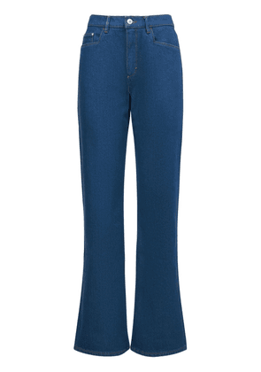 Daisy Mid Rise Wide Cotton Jeans