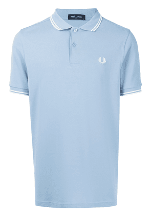 FRED PERRY Twin Tipped cotton polo shirt - Blue