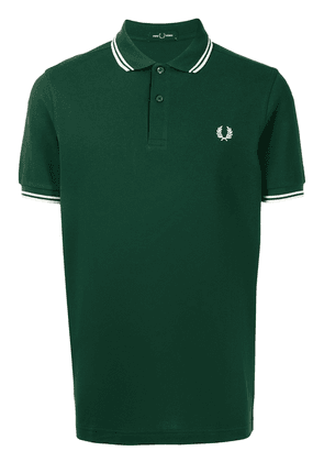 FRED PERRY Twin Tipped cotton polo shirt - Green