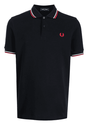 FRED PERRY embroidered logo polo shirt - Blue